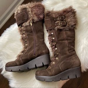 Aldo Suede and Fur Winter Boots